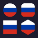 Flags of Russia Football Cup 2018 - Flag Icons - GraphicRiver Item for Sale