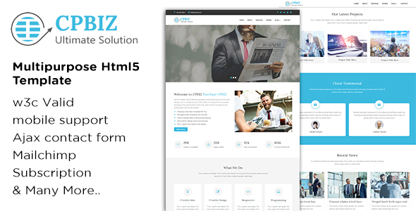 CPBIZ - Multipurpose HTML5 Template - Business Corporate