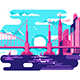 Modern Urban Bridge Design Flat - GraphicRiver Item for Sale
