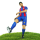 Luis Suarez Game Ready Football Player Kick Animation