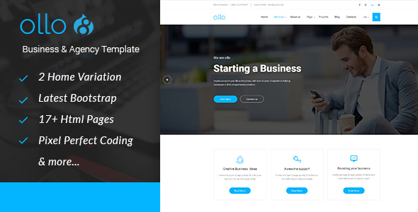 ollo Business & Agency Drupal 8.4 Theme - Business Corporate