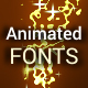 Sparkle Animated Font Pack - VideoHive Item for Sale