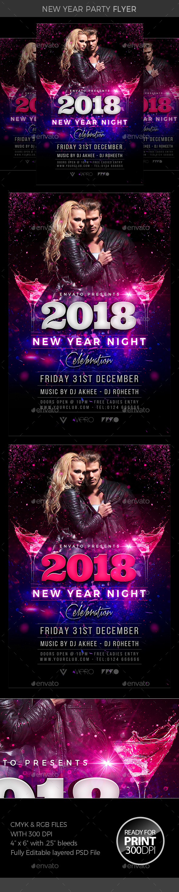 GraphicRiver New Year Party Flyer 21008314