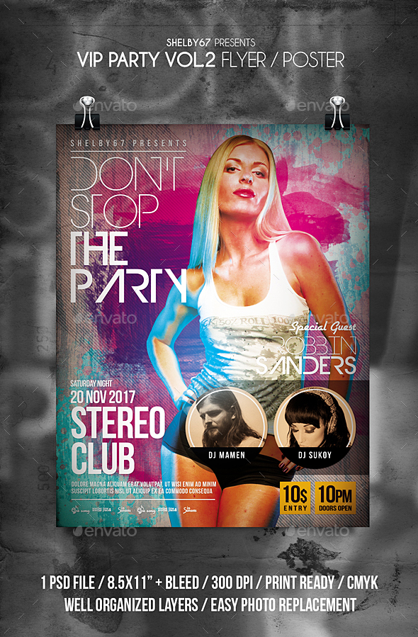 VIP Party Flyer Vol 2 - Clubs & Parties Events