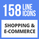 158 Shopping & E-Commerce Filled Line Icons