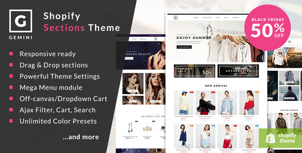 Gemini - Responsive Shopify Fashion Theme - Fashion Shopify