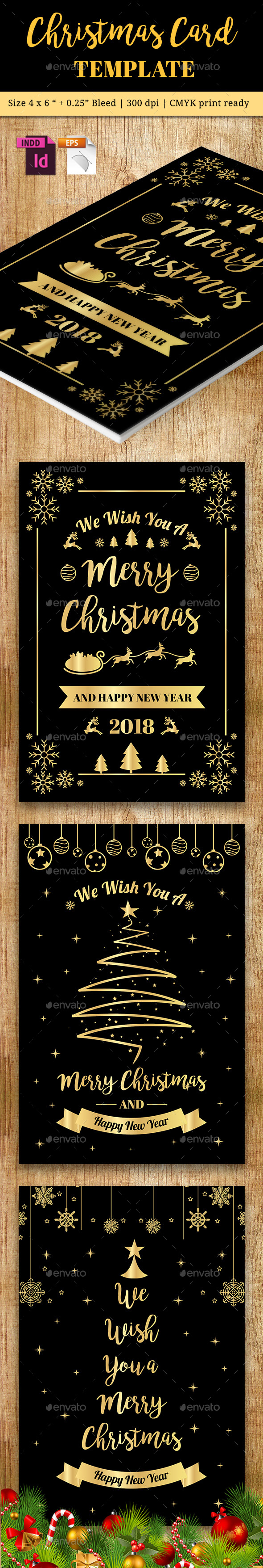 Christmas Card Vol. 5 - Cards & Invites Print Templates