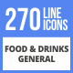 270 Food & Drinks General Filled Line Icons