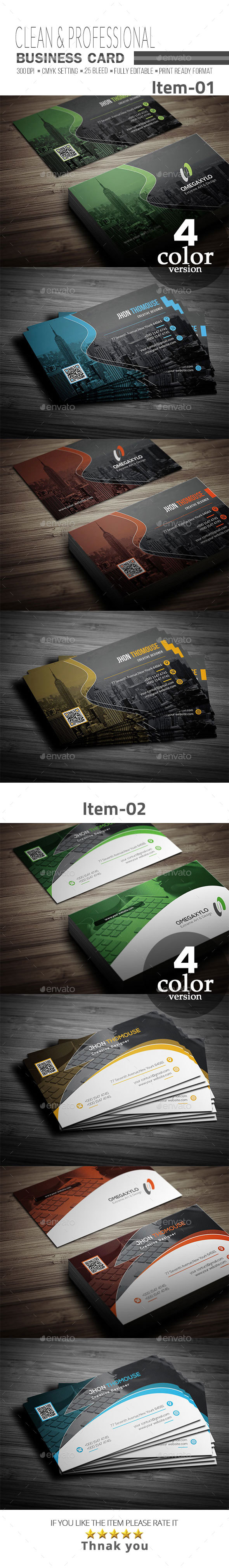 GraphicRiver Business Card Bundle 2 In 1 21008563