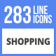 283 Shopping Filled Line Icons