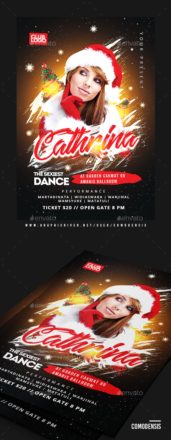 GraphicRiver Christmas Party Flyer Template 21008749