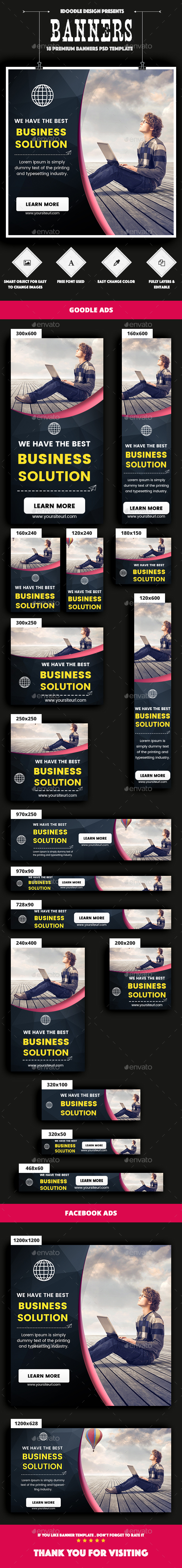 GraphicRiver Multipurpose Banners Ads 21008825