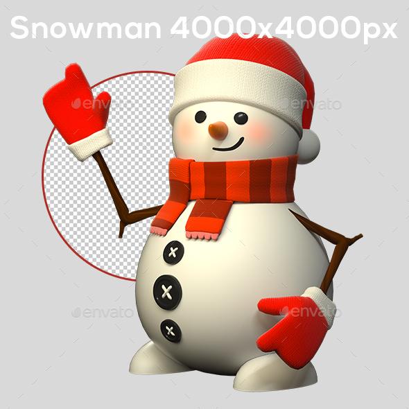 GraphicRiver 3D Snowman 21008826