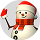 3D Snowman - GraphicRiver Item for Sale