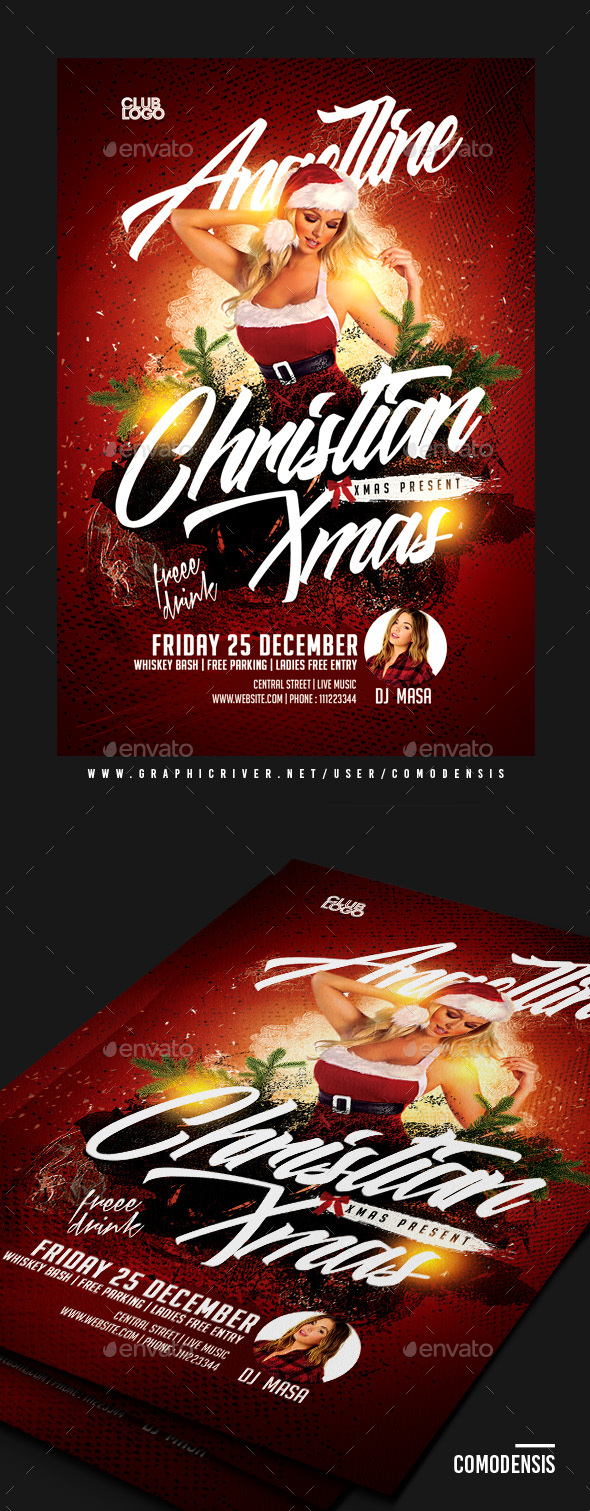 Dj Christmas Party Flyer - Clubs & Parties Events