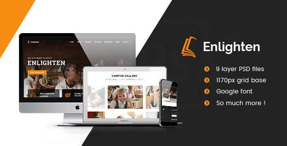Download Enlighten - Education PSD Template            nulled nulled version