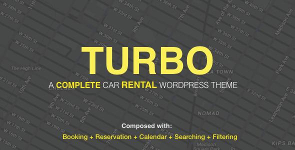 Turbo - Car Rental System WordPress Theme - WooCommerce eCommerce
