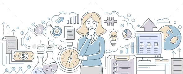 Business Process Management - Modern Flat Design - Concepts Business