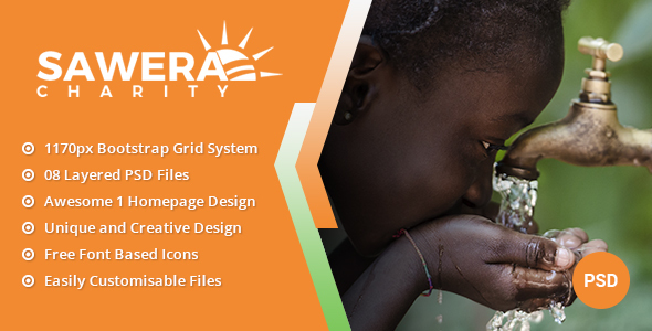 ThemeForest Sawera Charity PSD Template 21008948