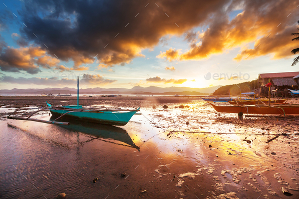Village in Palawan - Stock Photo - Images