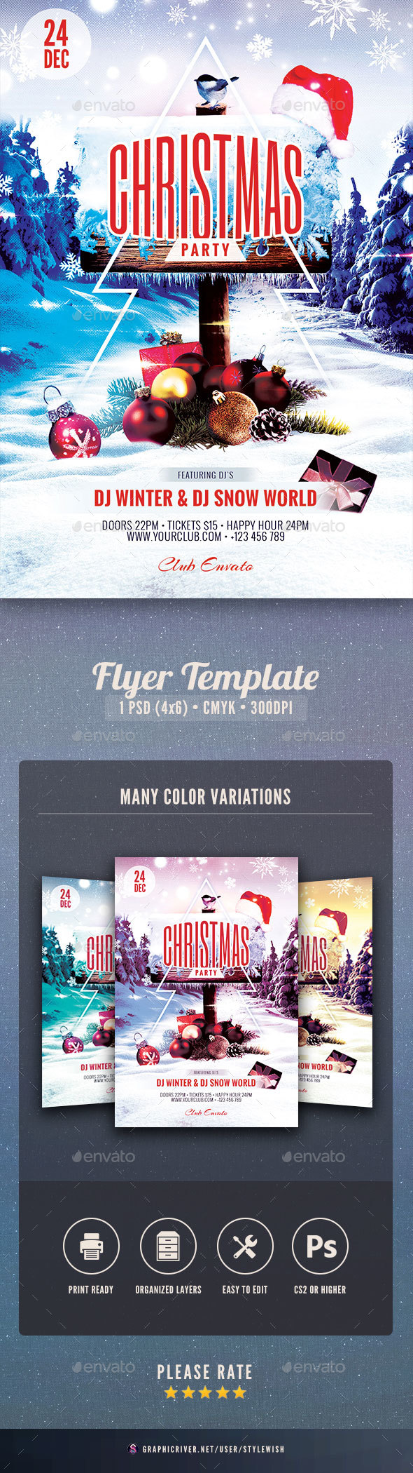 GraphicRiver Christmas Party Flyer 21009075