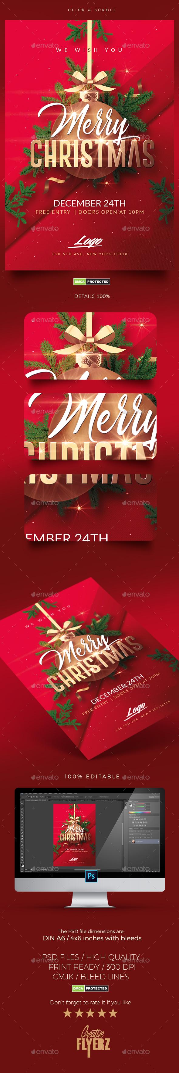 Christmas Invitation | Psd Templates - Flyers Print Templates
