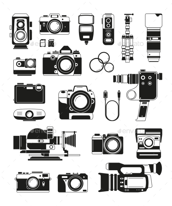 Video and Photo Cameras - Man-made Objects Objects