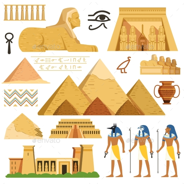 GraphicRiver Pyramid of Egypt History Landmarks 21009141