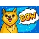 Dog with Open Mouth and Speech Bubble - GraphicRiver Item for Sale