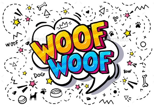 GraphicRiver Woof in Word Bubble 21009148