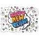 Happy New Year Word Bubble - GraphicRiver Item for Sale