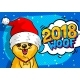 Dog in Santa Claus Hat with Open Mouth and Speech - GraphicRiver Item for Sale
