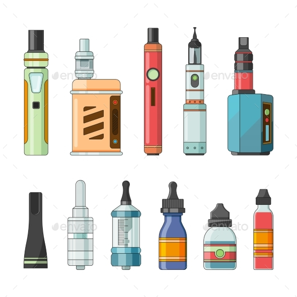 GraphicRiver E Cigarettes and Different Electric Tools 21009196