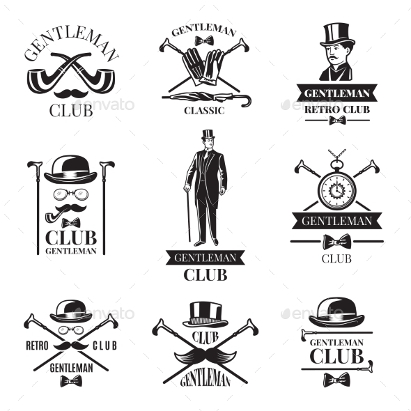 GraphicRiver Gentleman Club Badges 21009228