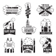 Badges and Labels with Illustrations of Vapor - GraphicRiver Item for Sale