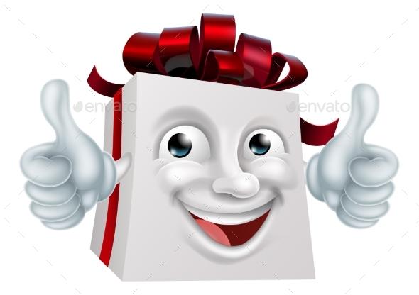 GraphicRiver Gift Present Cartoon Character Mascot 21009286
