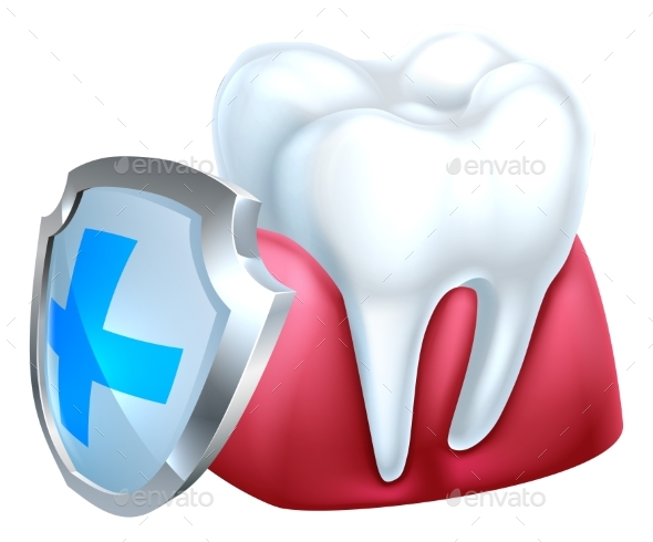 GraphicRiver Gum Tooth and Shield Icon 21009292