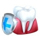 Gum Tooth and Shield Icon - GraphicRiver Item for Sale
