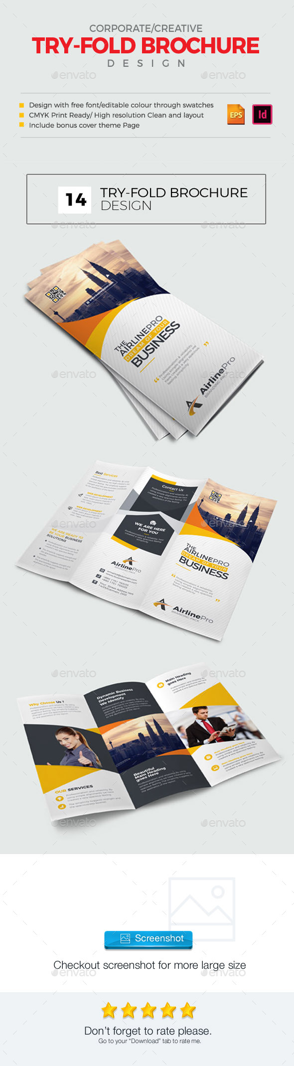 GraphicRiver Tri-Fold Brochure 21009324