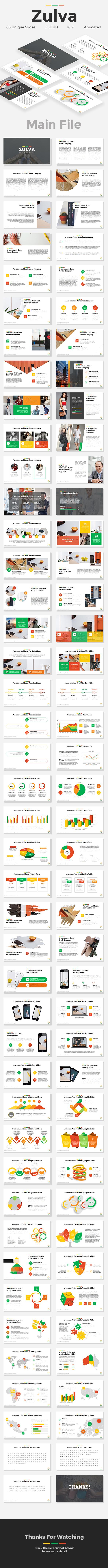 Zulva - Creative Google Slides Template - Google Slides Presentation Templates