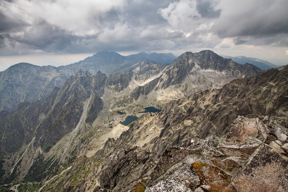 Photo of beautiful lakes in High Tatra Mountains, Slovakia, Europe - Stock Photo - Images