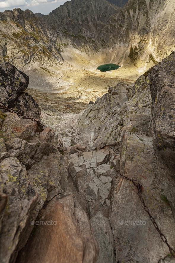Photo of Mlynicka dolina and Capie pleso lake in High Tatra Mountains, Slovakia, Europe - Stock Photo - Images