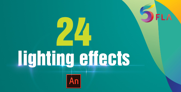 CodeCanyon 24 Light Effects Adobe Animate CC 21009600
