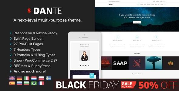 Dante - Responsive Multi-Purpose WordPress Theme - Corporate WordPress