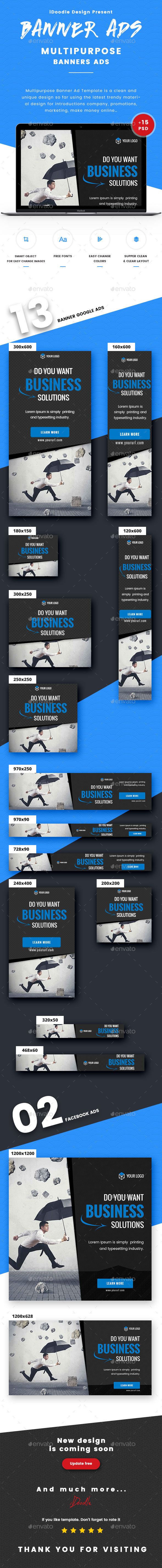 GraphicRiver Multipurpose Banner Ads 21009643