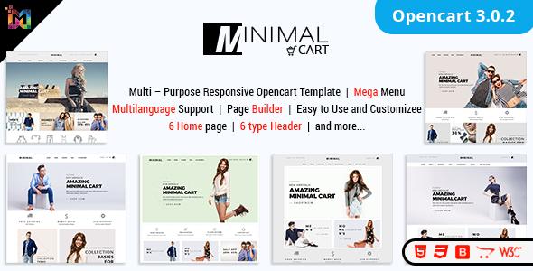 Minimal Cart - Multipurpose Responsive eCommerce OpenCart 3 Theme