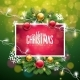 Christmas Illustration on Green Background - GraphicRiver Item for Sale