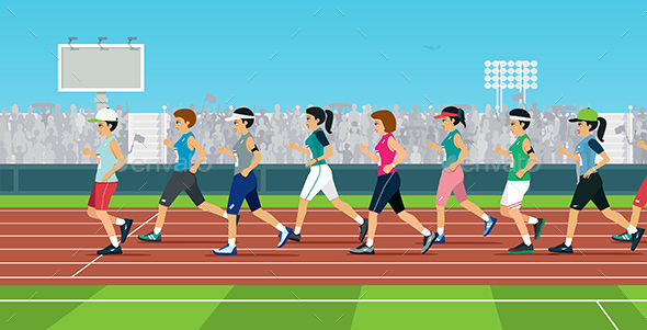 Marathon - Sports/Activity Conceptual