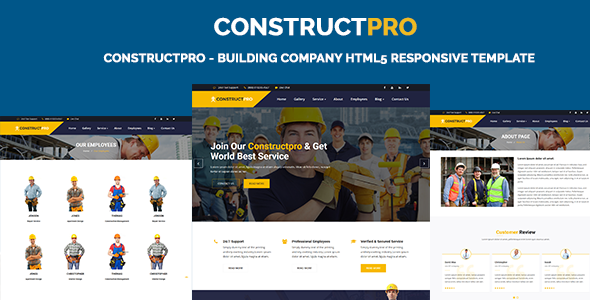 Image of ConstructPro - Building Company HTML5 Responsive Template