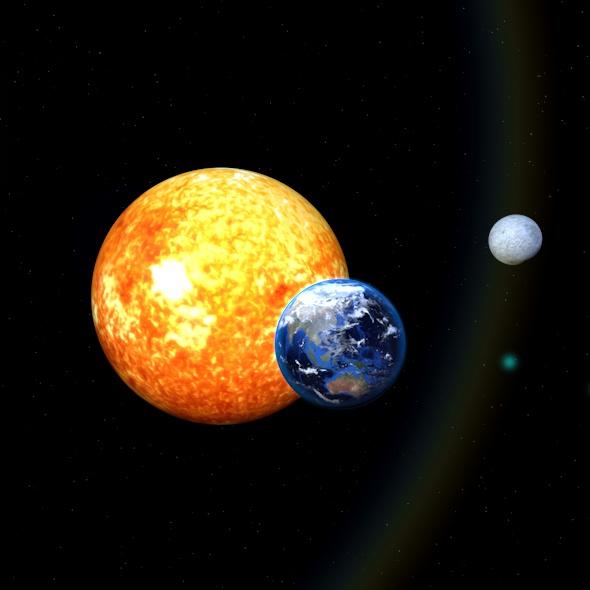 3DOcean earth moon sun 21010187
